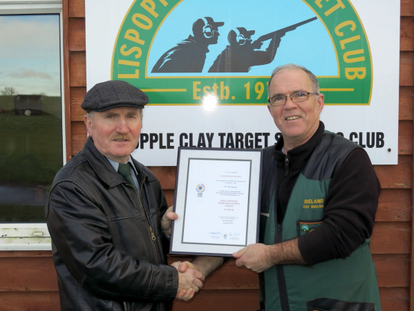"Declan McQuillan receives his ISSF ""B"" Licence Credentials"